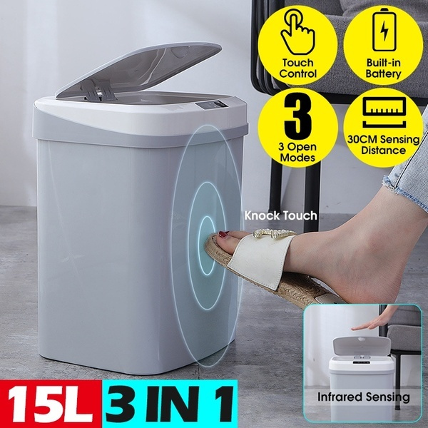 Trash Can With Odor Filter Touchless