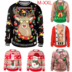 Funny, Fashion, Christmas, pullover sweater
