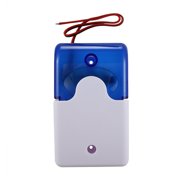 Wired Alarm Strobe Siren 12V Flashing Light Sound Siren Security Alarm SystE0