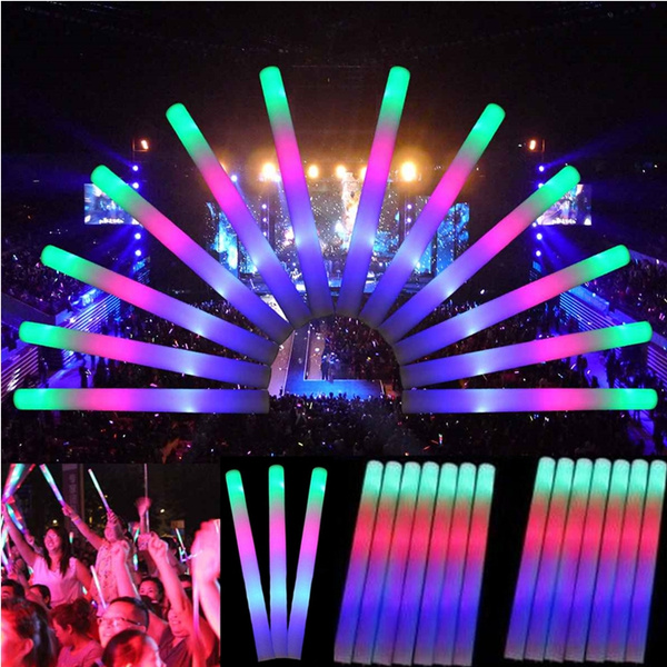 5 10 20pcs Multicolor Led Foam Glow Stick Fluorescent Light Sticks