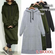Fleece, hooded, Autumn Dress, warmhoodie