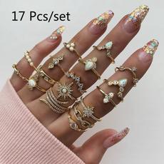 Couple Rings, DIAMOND, leaf, Jewelry