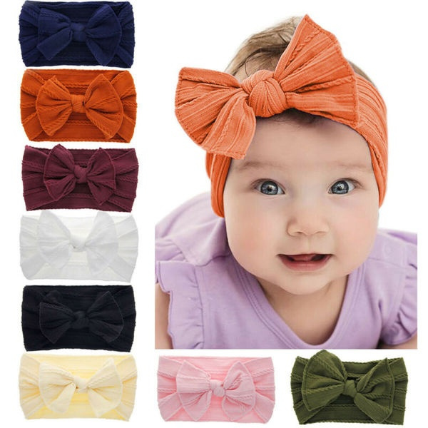 Newborn Toddler Kids Headband Baby Girl Headwear Bow Flower HairBand Accessories