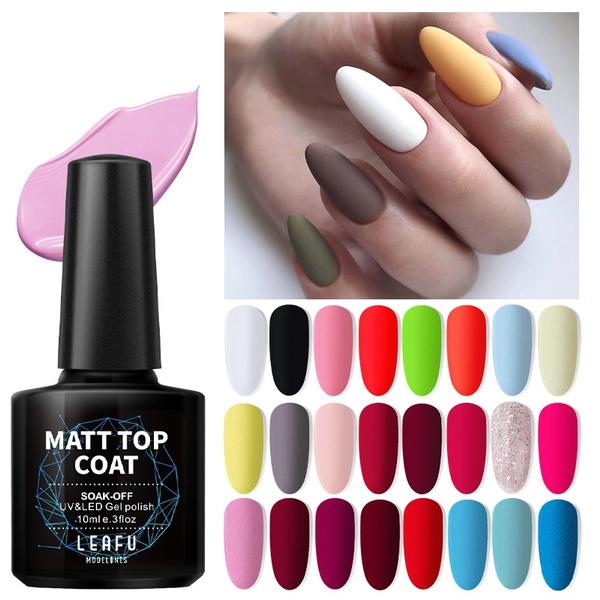 Matte Top Coat Color Uv Gel Nail Polish Gray Series Semi Permanent Soak Off Uv Gel Varnish