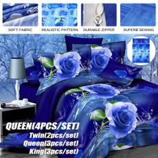 Blues, Cotton, bedsheetsqueen, comforterduvet