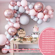 pink, Decor, Garland, Balloon