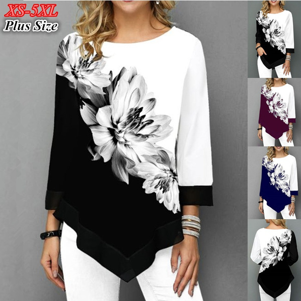 blouse, Plus Size, Shirt, chiffon