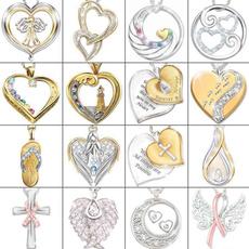 Sterling, Heart, 925 sterling silver, Cross Pendant