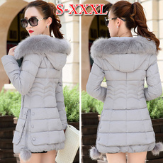padded, hooded, Invierno, winter coat