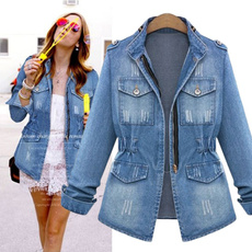 Blues, lapel, jeanjacket, Fashion