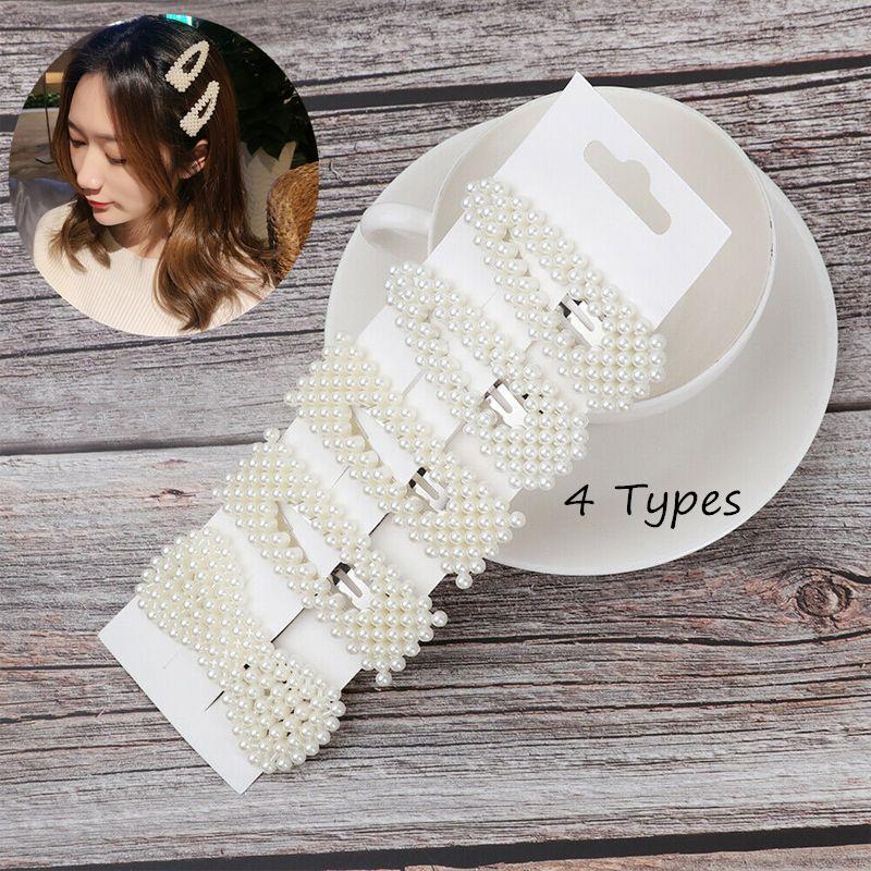 5Pcs Pearl Hair Clip Barrettes Fashion Korean For Women Hairpins Accessories USA