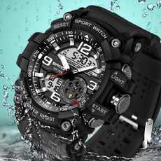 leddigitalwatch, analogdigitalwatch, Waterproof, Fashion