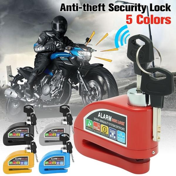 Alarm Disc Lock Motorcycle Anti-theft Disc Brake Lock for Motorbike Y