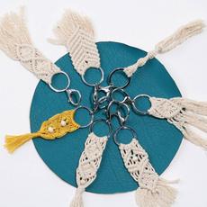 Ornament Boho Key Ring Macrame Handmade Tassel Weaving Bohemian Keychain