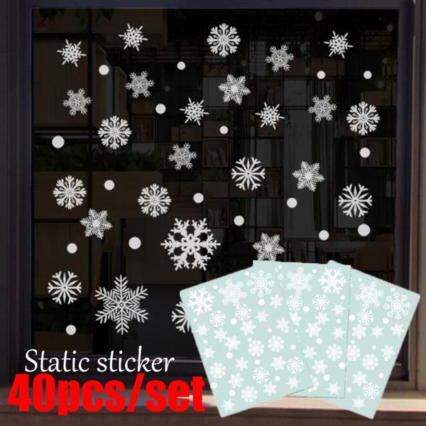 christmaswindowdecoration, windowsticker, glasssticker, combinationwindowsticker