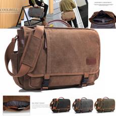 multifunctionalbag, canvasshoulderbag, Laptop, Men