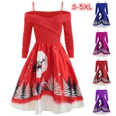 coldshoulderdres, Swing dress, Plus Size, Autumn Dress