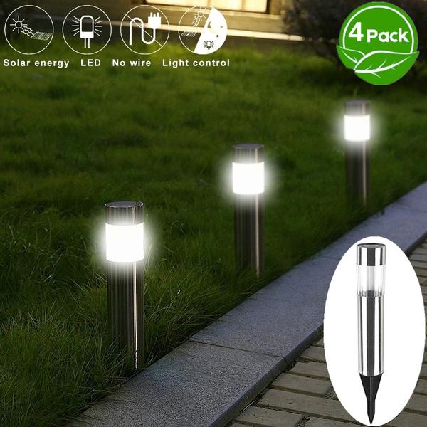 Solar Garden Lights Stainless Steel