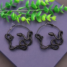 witchearring, royalsnakeearring, Hoop Earring, Jewelry