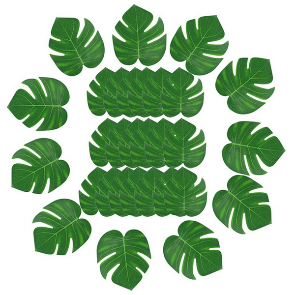 30pcs Artificial Tropical Palm Leaves Decoration Party Luau Hawa In Tropical Palm Leash Simulation Artificial Leaf For Home Party Decorating Wish