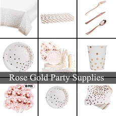 Plates, Jewelry, gold, weddinggoldenpartydecoration