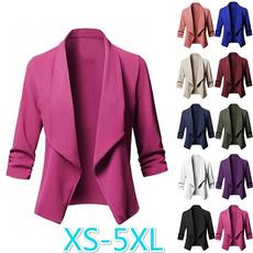 Casual Jackets, Fashion, Blazer, 34sleeve