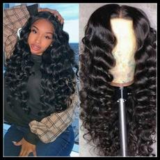wig, Black wig, brazilianhumanhair, Long wig