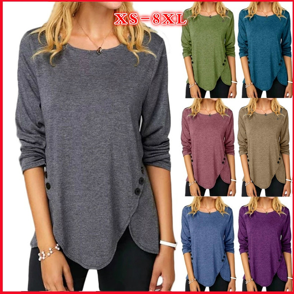 blouse, Plus Size, Cotton T Shirt, Sleeve