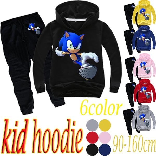 Cartoon Sonic The Hedgehog Kid Hoodies Print Hoodies Clothes Children Cartoon Suit Wish