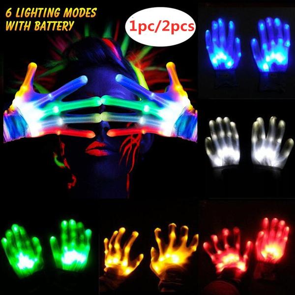 1pc LED Flashing Finger Light Up Gloves Colorful Lighting Xmas  Party Xmas