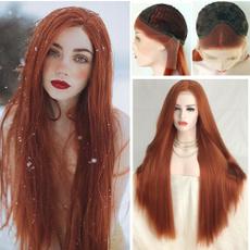 wig, pink, Head, longwavywig