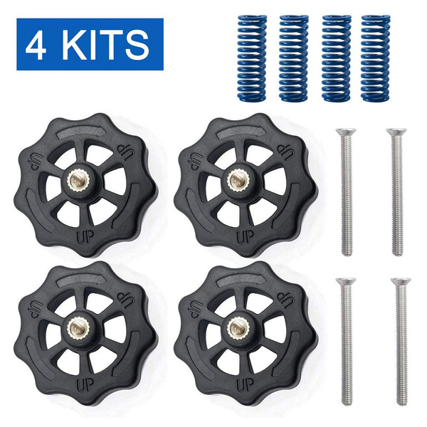Creality 3D Printer Replacment Parts 4PCS Upgraded Leveling Nut 4PCS Hot Bed Spring Ender 3 Pro//Ender 5// CR-10// CR-10S //CR-10 S5 4PCS M4X30 Screws for Ender 3