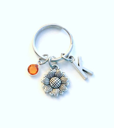Flowers, Key Chain, Sunflowers, Gifts