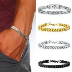 Charm Bracelet, Steel, Men, Jewelry