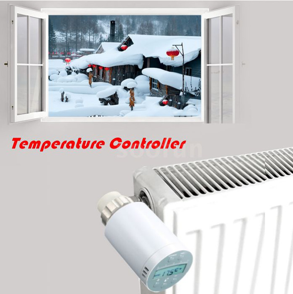 Room Temperature Controlling Programmable Thermostat Heater Valve Actuator
