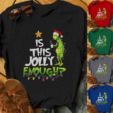 shortsleeveshirtsforwomen, grinchtshirt, isthisjollyenoughtshirt, Shirt