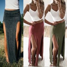 Fashion Skirts, long skirt, splitskirt, Dress