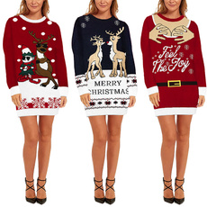 Fashion, sweater dress, Christmas, pullover sweater