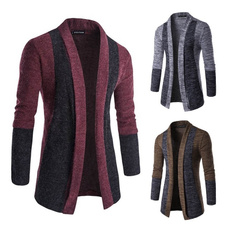 cardigan, colorstitching, slim, Jacket