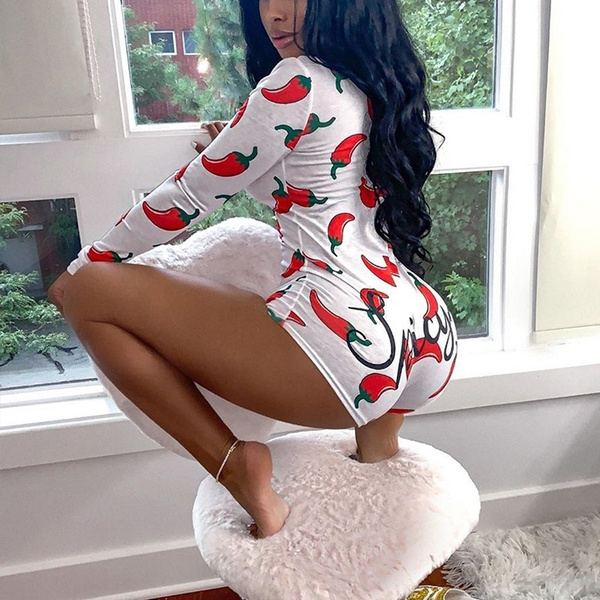 Women V Neck Long Sleeve Bodysuit Stretch Bodycon Slim Jumpsuit Playsuit Fashion