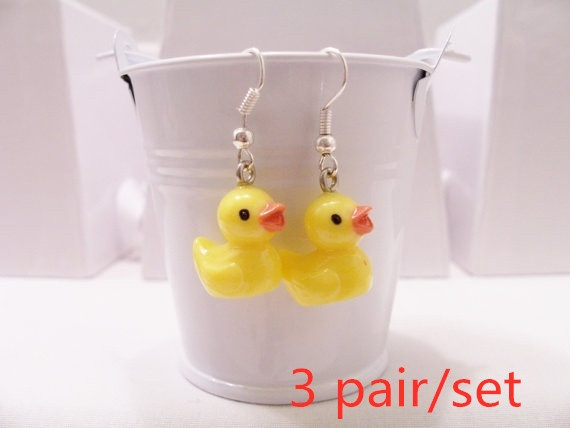 Mini, Dangle Earring, Jewelry, rubberducky