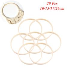10pcs 16//20//23//26cm Diameter Dream Catcher Ring Round Wooden Bamboo Hoop