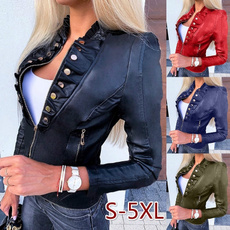 casual coat, Fashion, Mini, zipperjacket