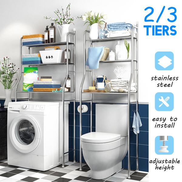 Stainless Steel Storage Rack Over Toilet//Bathroom Machine Shelf Unit Organizer