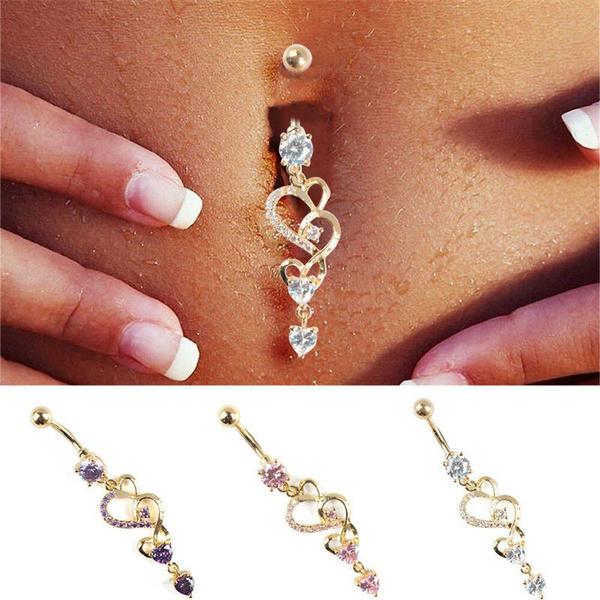 Crystal Rhinestone Dream Catcher Body Piercing Belly Button Navel Ring Bar  R