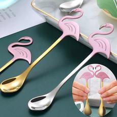 coffeespoon, cartoonspoon, Coffee, flamingo