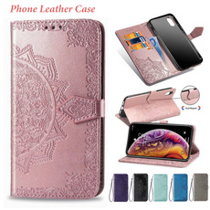 case, Flowers, Samsung, leather