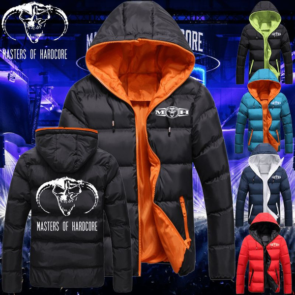 Men Winter Hoodies Thick Fleece Coat Thunderdome Wizard Hardcore Techno and Gabber Jacket Sweatshirt