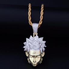 hip hop jewelry, punk necklace, narutonecklace, 18kgoldnecklace