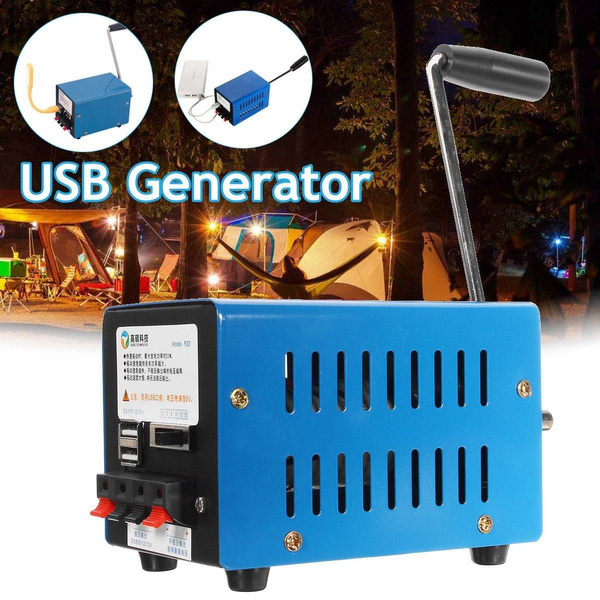 20W Hand Crank USB Generator Emergency Outdoor Gear Hiking Camping Accessories